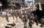 Image - El Ejército sirio libera el Campo de Yarmuk y pone fin a la campaña del Sur de Damasco. Irak y Siria ya controlan toda su frontera común